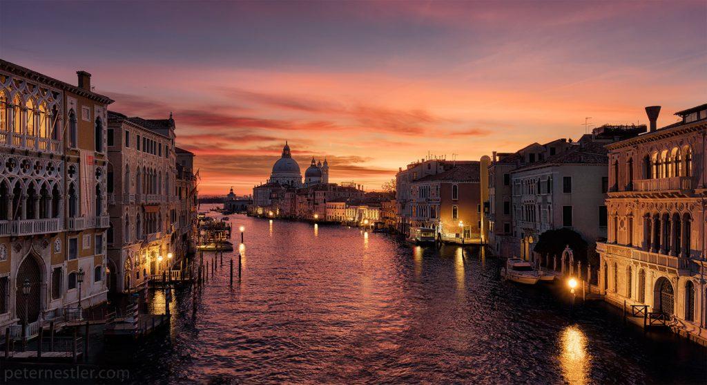 Ponte Dell'Accademia Sunrise Venice Italy