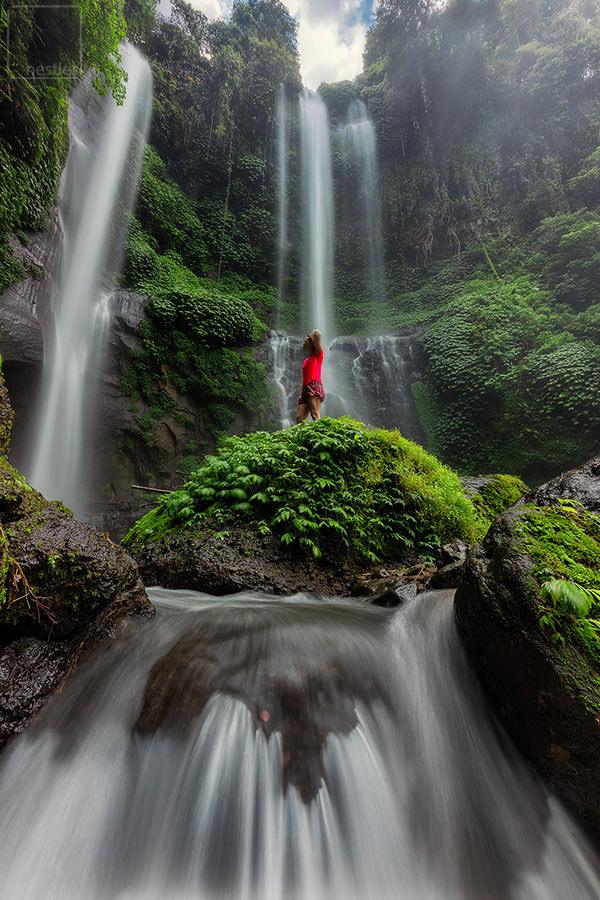 Sekumpul Falls in Bali