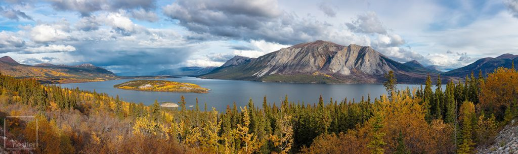 Bove Lake in the Yukon Territory of Canada