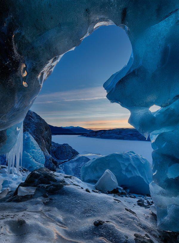 Door to Narnia in Juneau Alaska at the Mendenhall Glacier Ice Cave