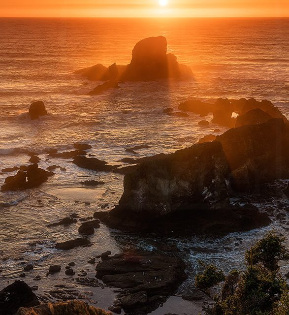 Sunset from Ecola Park on the Oregon Coast
