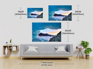 Fine Art Print Size Comparison