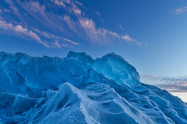 Frosted Glacier Ice