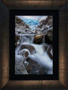 Herbert's Last Stand Glacier Fine Art Picture with Tabbachino Frame