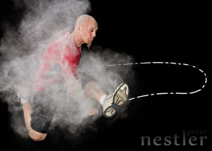 jump rope in smoke photo