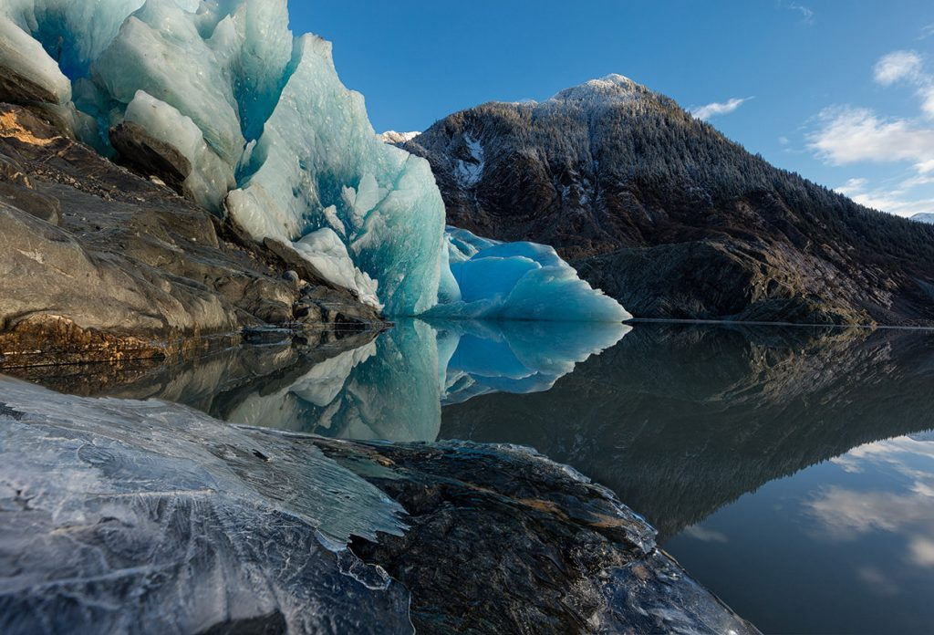 Mendenhall Reflection - Glacier reflection in Juneau, Alaska