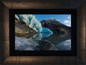 Mendenhall Reflection framed with ROMA tobbachino