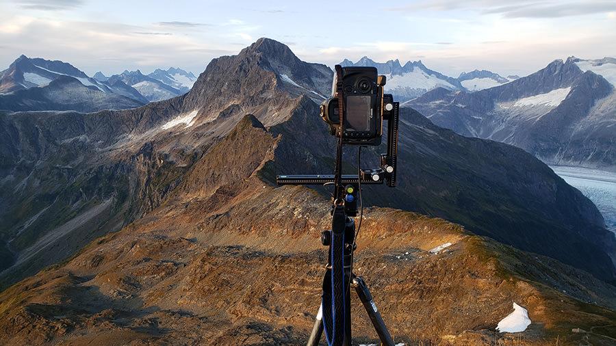 Multi-Row Panoramic Camera Setup on Mount McGinnis
