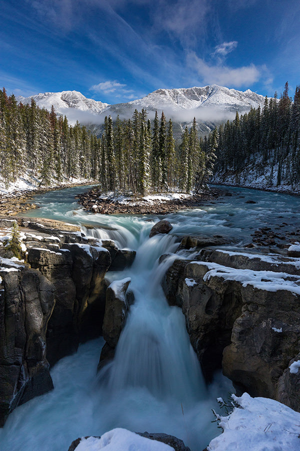 Sunwapta Falls - Canadian Waterfall