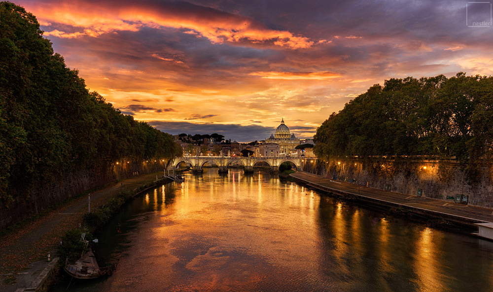 Eternal City - Vatican Sunset in Rome Italy