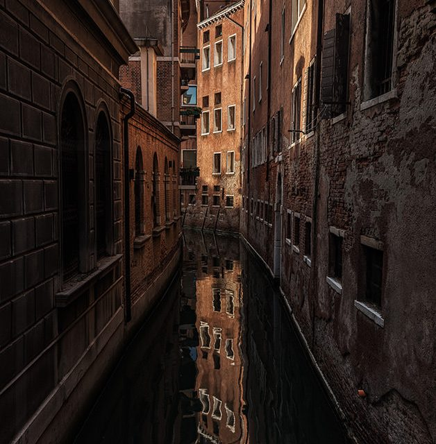 The Streets of Venice are paved with h2O - reflection at sunrise
