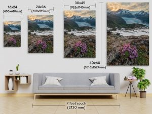 Vertical Fine Art Print Size Comparison